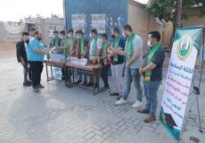 الكتلة الإسلامية تستقبل طلاب الثانوية العامة بمدارس شمال غزة