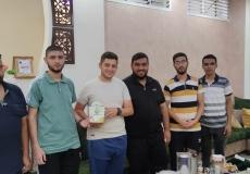 الكتلة الإسلامية في منطقة الشمالية ب برفح تزور الطلاب المتفوقين في الثانوية العامة