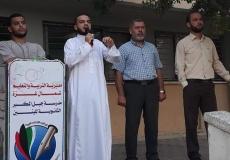حراسة الفضيلة 3 في مدرسة جبل المكبر  الثانوية شمال غزة