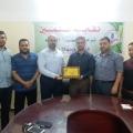 زيارة رئاسة الكتلة الإسلامية لنقابة المعلمين