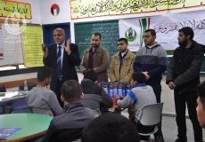 تنفيذ مشروع الإنارة لطلبة الثانوية العامة بمدرستي يافا وعبدالفتاح حمود الثانوية