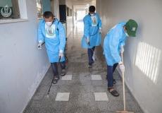 الكتلة الإسلامية بشمال غزة تنفذ بحملة تعقيم وتنظيف المدارس الحكومية