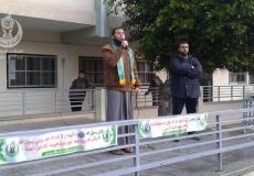 عقدت الكتلة الإسلامية في مدرسة فتحي البلعاوي. أ. موعظة للداعية أحمد سعود ،عن تعظيم اسم الله .