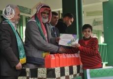 الكتلة الاسلامية في مدرسة عمورية في الزوايدة تنظم حفل لتكريم الطلاب المتفوفين بحضور قيادة الحركة