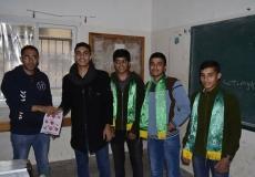 تنظيم مسابقة بِعنوان [سؤال من المنهاج] في مدرسة عدنان العلمي غرب غزة