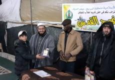 ????صور / *الكتلة الاسلامية في مسجد الهدي جحر الديك في منطقة البريج تكرم الطلاب المتفوقين