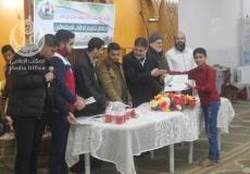 الكتلة الإسلامية بمنطقة مخيم2  في النصيرات تكرم الطلاب المتفوقين فى المنطقة