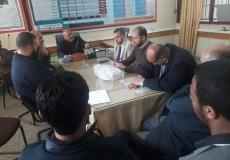 زيارة قيادة الكتلة بغرب غزة لإدارة مدرسة جولس