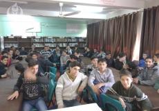 الكتلة تعقد دورة اسعافات اولية في مدرسة خليل الرحمن الثانوية بشمال غزة