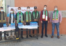 الكتلة الإسلامية في محلية الزوايدة تستقبل طلاب الثانوية العامة في أول أيام الاختبارات النهائية