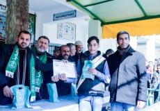 حفل تكريم المتفوقين  في مدرسة سخنين  الإعدادية  بحضور قيادة حركة حماس في بيت لاهيا شمال غزة