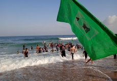 الكتلة الإسلامية في شعبة الرحمن  و أبو الخير  شرق جباليا شمال غزة رحلة ترفيهية لطلاب المرحلة الإعدادية والثانوية