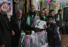 الكتلة الإسلامية في مسجد الشيخ أحمد -البريج تنظم حفل تكريم للطلبة المتفوقين .