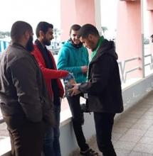 أثناء استقبال الطلاب