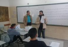 حملة تصوير مخفض لبطاقات التعليم الذاتى غرب غزة