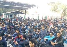 صلاة الإستسقاء بمدرسة سليمان سلطان بغرب غزة