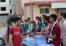 الكتلة الإسلامية في محلية المغازي تستقبل طلاب الثانوية العامة في أول أيام الاختبارات النهائية