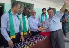 الكتلة الإسلامية بمدرسة أسعد الصفطاوي الإعدادية بشرق غزة تقيم حفلاً لتكريم الفائزين بالبطولة الرياضية