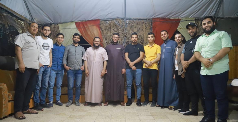 جانب من اللقاء الاعلامي لهيئة جنوب غزة