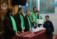 الكتلة الإسلامية في مسجد التقوى -البريج تنظم حفل تكريم للطلبة المتفوقين .