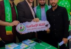 استقبال طلاب القدس المفتوحة شمال غزة