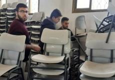 حملة تظافة لمصلى مدرسة سليمان سلطان غرب غزة