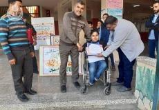 احياء اليوم العالمي لذوي الإعاقة في مدرسة النزلة شمال غزة