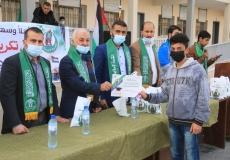 حفل تكريم المتفوقين بمدرسة الحرازين غرب غزة