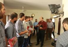 زيارة الهيئة الادارية للكتلة الاسلامية لمكتب الكتلة بغرب غزة