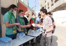 الكتلة الإسلامية في محلية البريج تستقبل طلاب الثانوية العامة في أول أيام الاختبارات النهائية