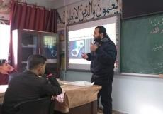 الكتلة الاسلامية في مدرسة العز بن عبد السلام  تنظم سلسلة دروس دعوية