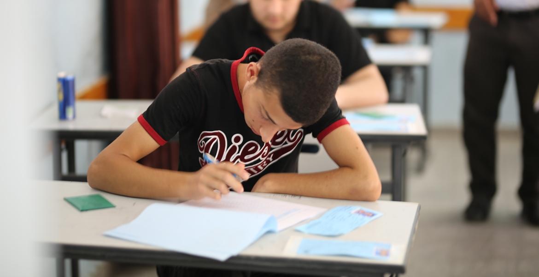 صورة من قطاع غزة أثناء امتحانات الثانوية العامة