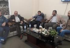 زيارة د. ماجد الرنتيسي المرجعية الدعوية للكتلة الإسلامية بغرب غزة