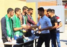 الكتلة الإسلامية في محافظة خان يونس تستقبل طلاب الثانوية العامة
