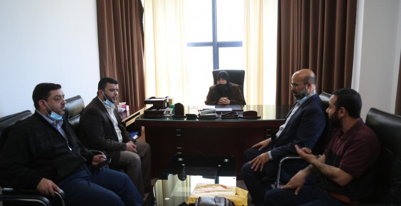 زيارة د. جميلة الشنطي (عضو المكتب السياسي لحركة حماس)