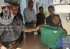 المشروع الرياضي بمدرسة حفصة بنت عمر الإعدادية شمال غزة