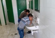 قامت الكتلة الاسلامية جنوب غزة في مدرسة جعفر بن أبي طالب بعقد لقاء عملي ( كيفية الوضوء الصحيح )