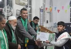 الكتلة الإسلامية في مخيم المغازي تكرم الطلاب المتفوقين في شعبة المهاجرين