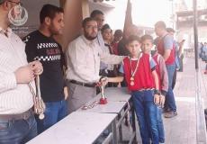 المشروع الرياضي بمدرسة النزلة الإعدادية شمال غزة