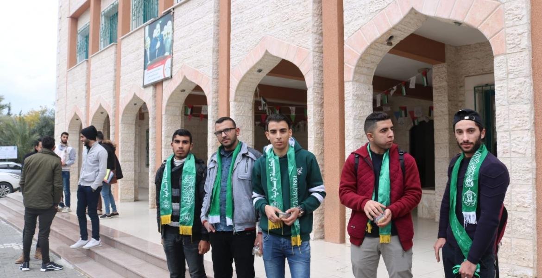 جانب من استقبال الطلاب