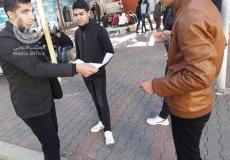 الكتلة الإسلامية في مدرسة فتحي البلعاوي توزع مطوية دعوية