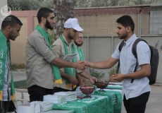 الكلتة الإسلامية في كلية الدعوة فرع الوسطى تستقبل الطلاب لتهنئتهم بالعام الجديد