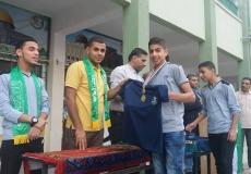 #صور|| الكتلة الإسلامية بمدرسة حطين شرق غزة تكرم المتأهلين للنهائي في البطولة الكروية