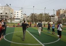 صور دوري مدارس الإعدادية في مدينة جباليا النزلة شمال غزة