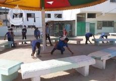 تنظيم حملة نظافة في مدرسة بيت لاهيا الإعدادية شمال غزة