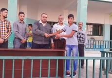 تكريم الفرق الفائزة بالدوري الرياضي بمدرسة القسطينه