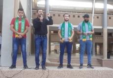 وقفة طلابية عن المسجد الأقصى في سعاد صباح