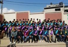 حفل تكريم الطلاب المتفوقين في مدرسة عبد المحسن القطان شرق محافظة خان يونس.