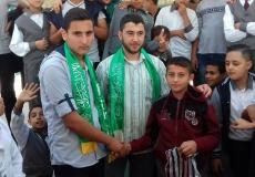 مسابقة ميدانية في مدرسة الصديق في محافظة خان يونس