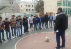 الكتلة الاسلامية في مدرسة خالد العلمي تعقد بطولة كروية باسم الشهيد قديح